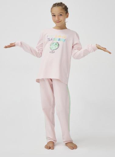 Penti Kız Çocuk Incı Teen Bts 2'li Pijama Takım PNBG6OA320SK Beyaz